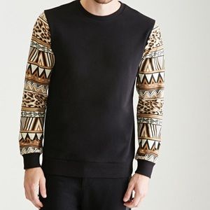 Forever 21 Men leopard 🐆 / tribal print sweater